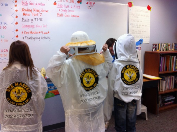 children wearing beemaster gear
